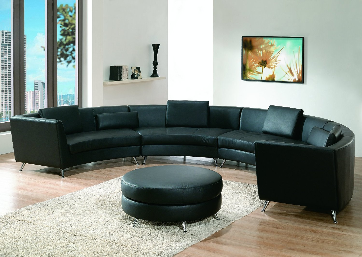 Buy Modern Line Furniture 8004B-G9 Contemporary Leather Long ...