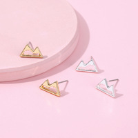 Zooying mountain triangle earrings gold&silver jewelry earrings