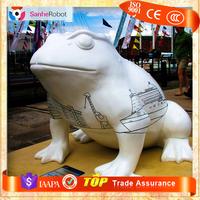 Western Original Realistic frog figurines,Fiberglass resin/ bronze frog sculpture, metal frog garden art