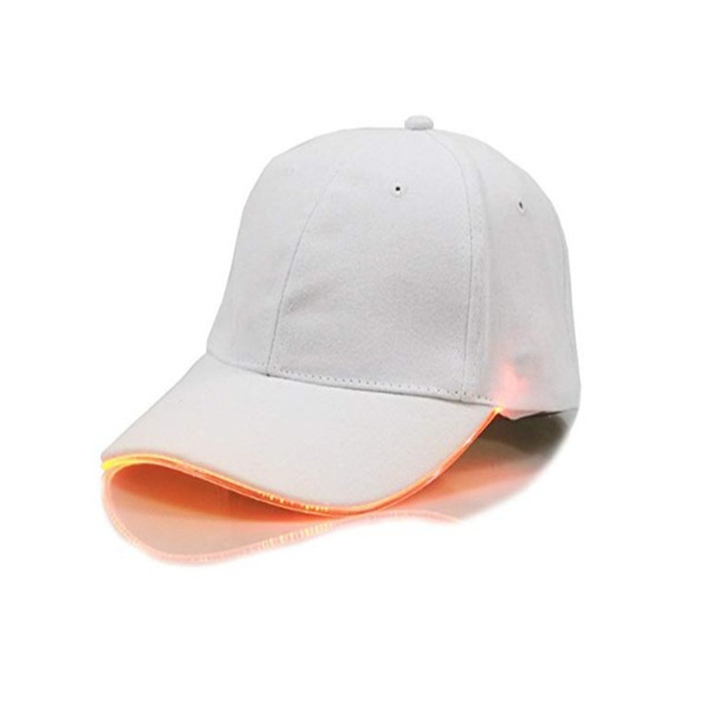 Oempromo 6-panel hat unisex led light baseball cap with built-in led light