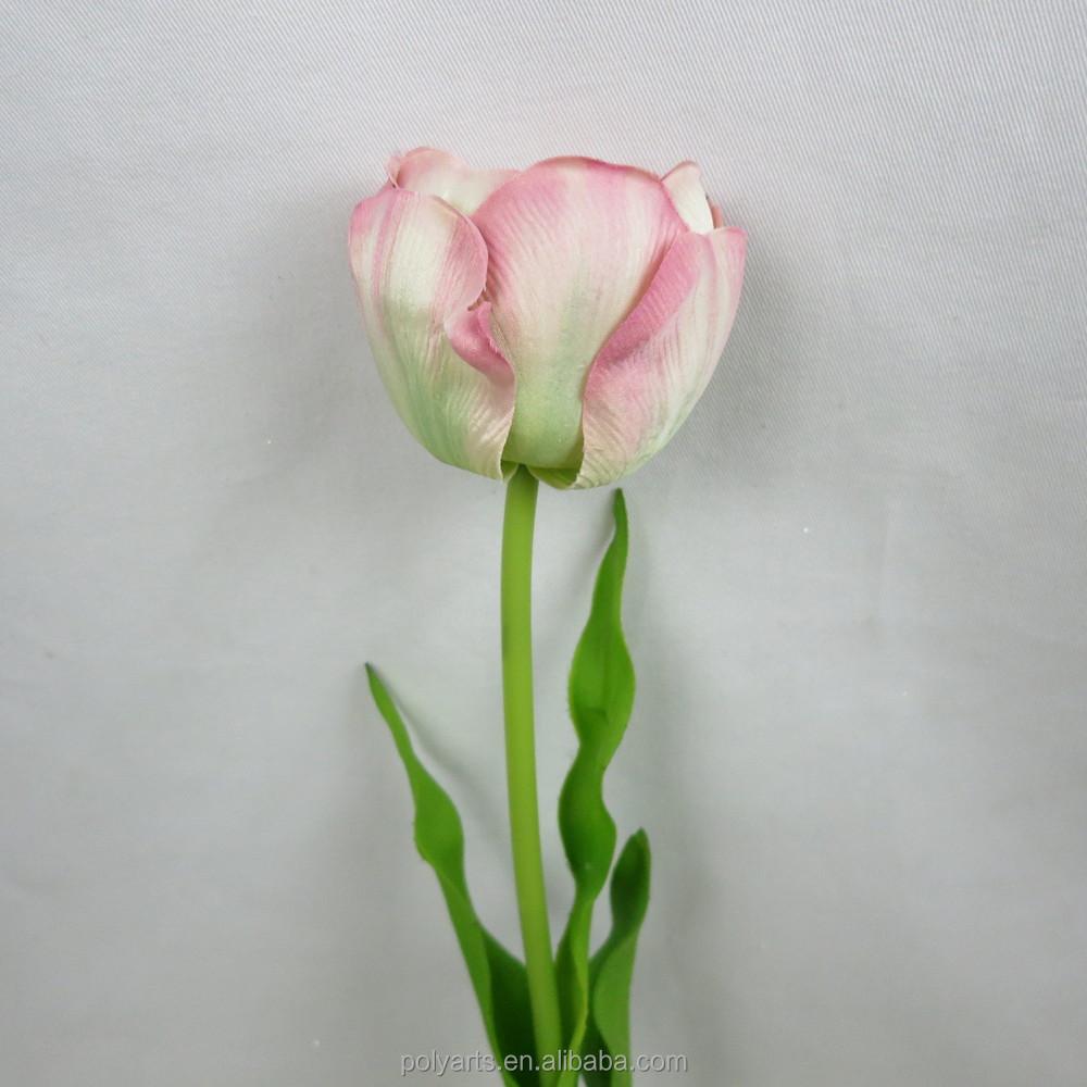26 5 Quot H Artificial White Tulip Silk Flower Decoration