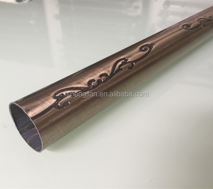 J0029-2AB Plating Stainless Steel Color adjustable Curtain Rod for Curtain Accessory