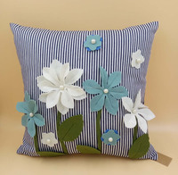 HT16-254 3D flower design of hand embroidery Cushion Cover