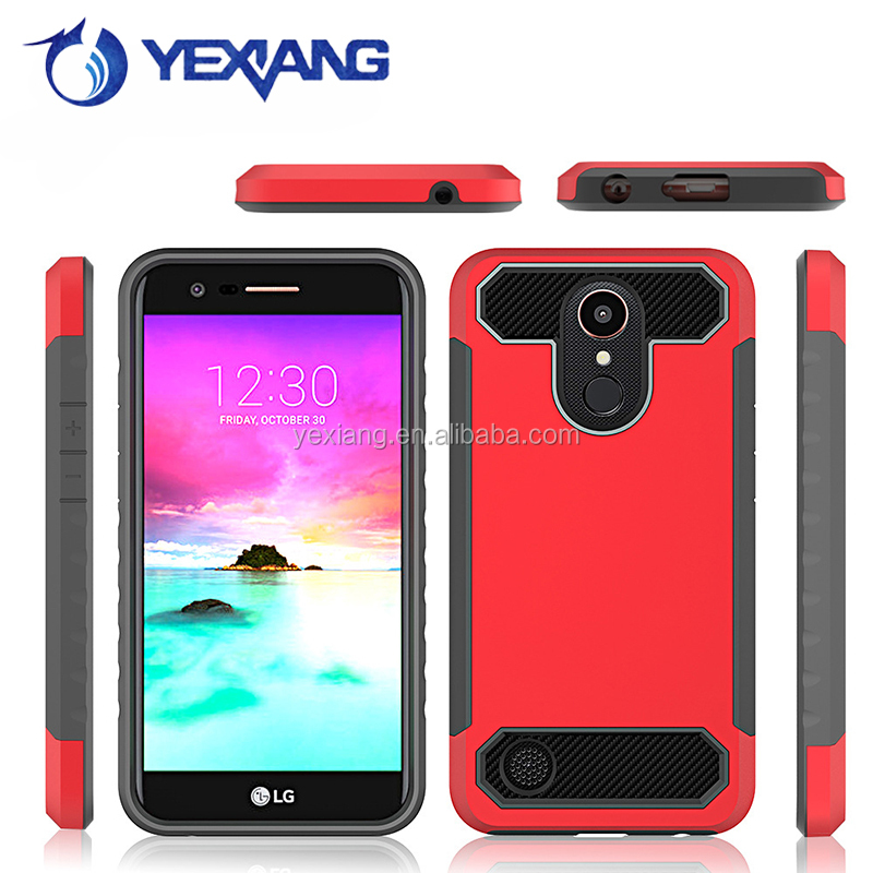 UV Printing PC Case carbon fiber phone case for LG K20 plus/K10 2017 Case