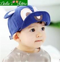 Wholesale 2016 New Fashion Cartoon Squirrel Turn up Baby Cotton Peaked Caps Sun hats Children Caps