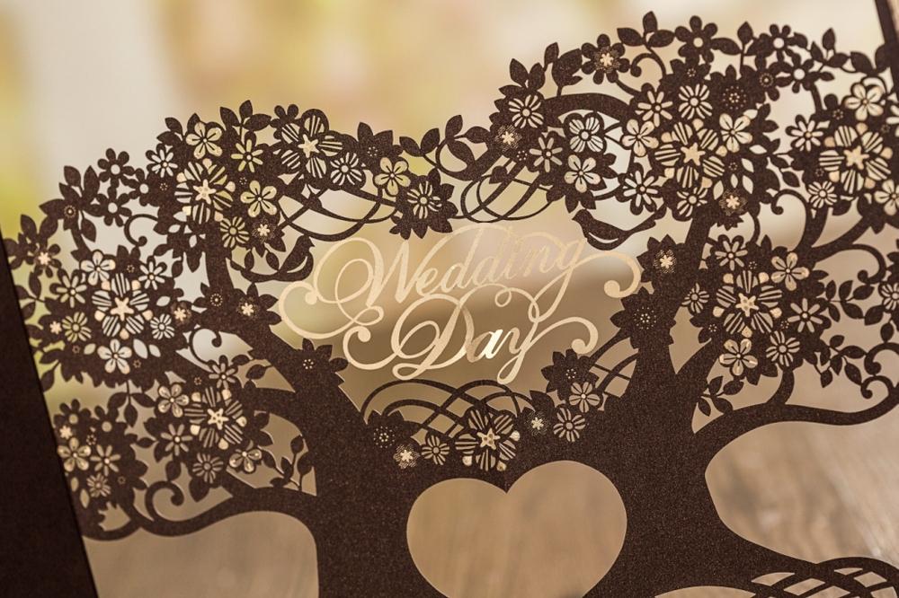 3D Magic Tree Wedding Invitation Card Laser Cut CW5023
