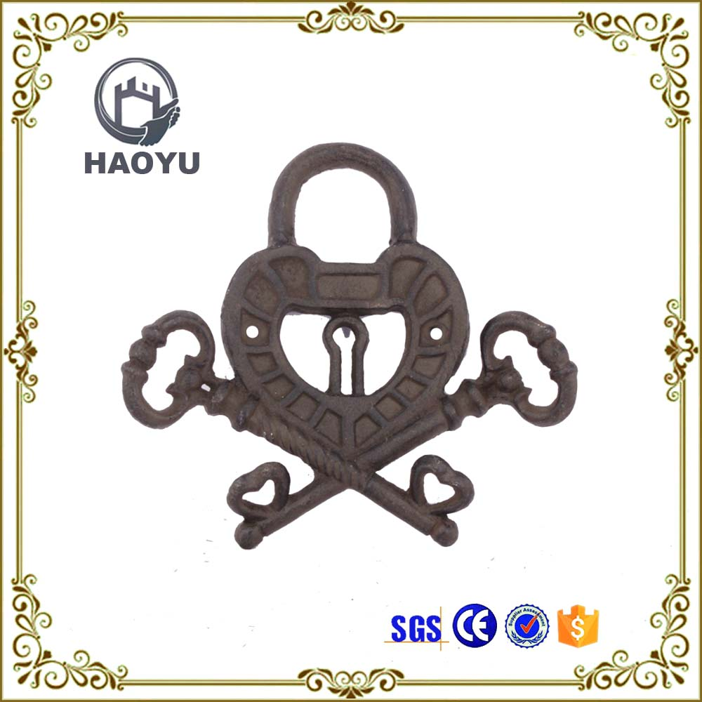 Art lock and key design metal hanger wall hook