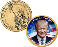 DONALD TRUMP Presidential Coin with Liberty Statue Challenge coins