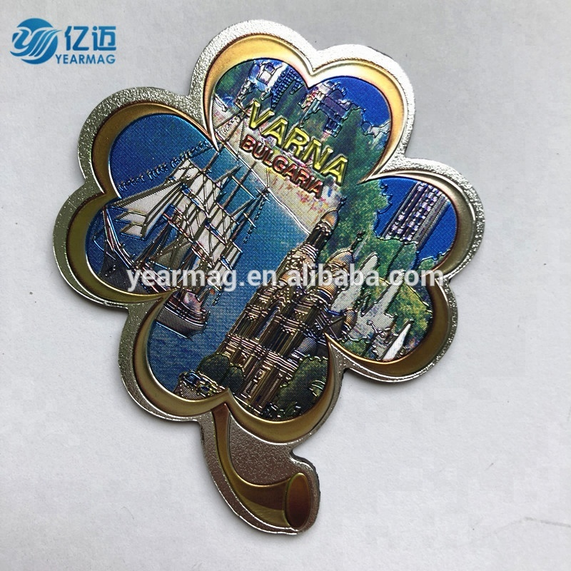3d decorative aluminum foil rubber refrigerator magnetic sticker for souvenir fridge magnet