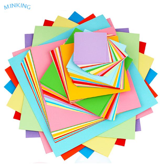 200 hojas de papel de origami de 25 cm cuadrado de doble cara de papel de color artesanal de papel de arte