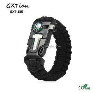 Survival equipment 5in 1 Outdoor Paracord Survival Bracelet with fire statter