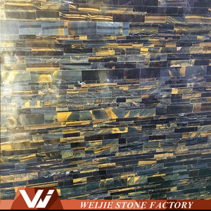 Tiger Eye brazil semi precious stones slab and tile from Yunfu factory
