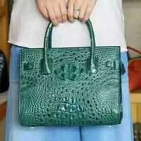 Genuine Crocodile Pattern Ladies Handbag Custom Manufacturers