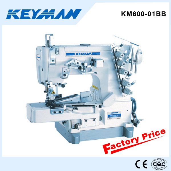 Km600-01bb Cylinder-bed Interlock Sewing Machine For Rolled Edge ...