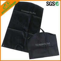 non woven breathable zipper garment bag with snaps