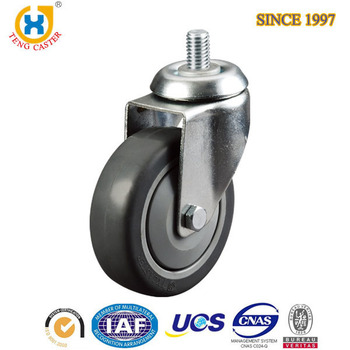 3 inch TPR Removable Caster Wheels With 80kg Load Capacity,Single Ball Bearing .