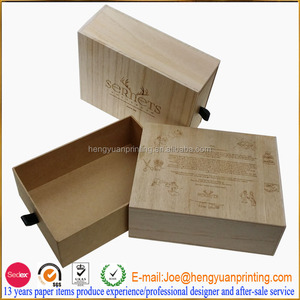 Unfinished wooden boxes wholesale wooden shoe box CH1226