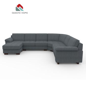 Modern New Design Big Size L Shape Corner Guangzhou Furniture Custom Size  Sectional Home Living Room