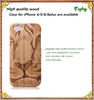 Fashion Detachable Wooden Cell Phone Case Custom sublimation Phone Case For Iphone 5 6.