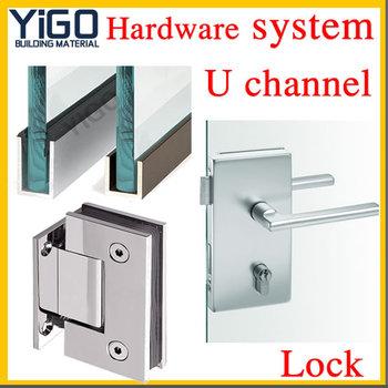Secure Sliding Glass Door Lock ,frameless Glass Door Lock