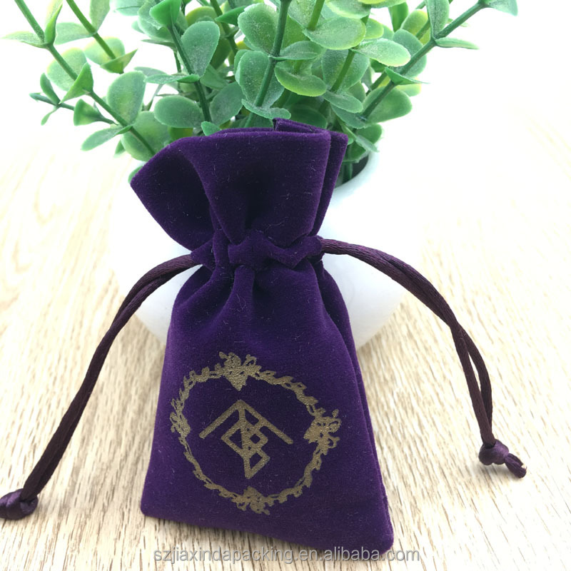 Custom Velvet Drawstring Ring Bag, Velvet Gift Bag India