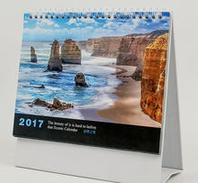 2017 new design Natural beautiful scenery table calendar