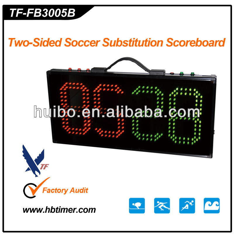 4 Digits Large LED Display Digital Two-side Football Scoreboard for football stadium