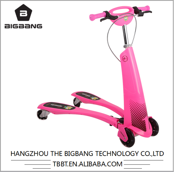 BIGBANG 21st mini scooter, three-wheel kick scooter,no foldable 3 wheel scooter wholesale