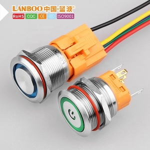 "LANBOO 22mm 7/8"" 1NO1NC/ 2NO2NC momentary or latching illuminated push button switch"