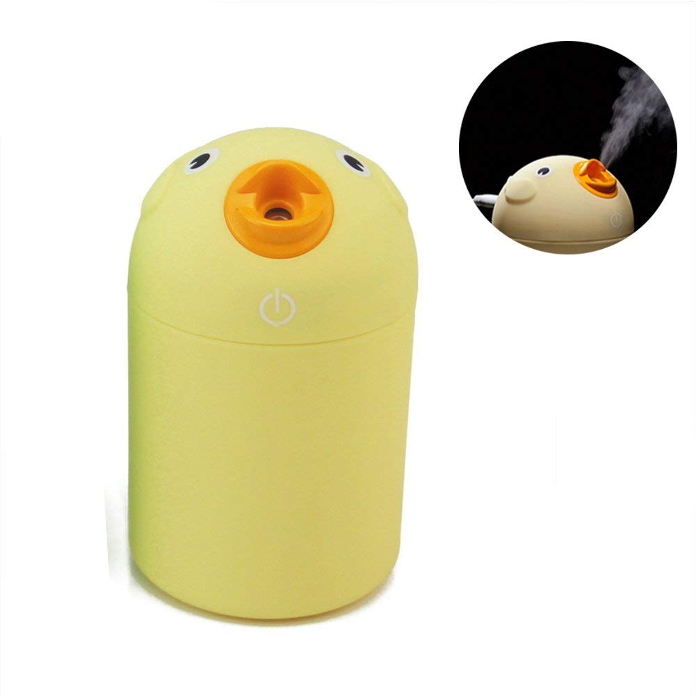 Aquarius CiCi Portable Silent Humidifier, Cute Cartoon Bird USB Cool Mist Humidifier, Personal Humidifier for Bedroom, Office, Home, Desktop