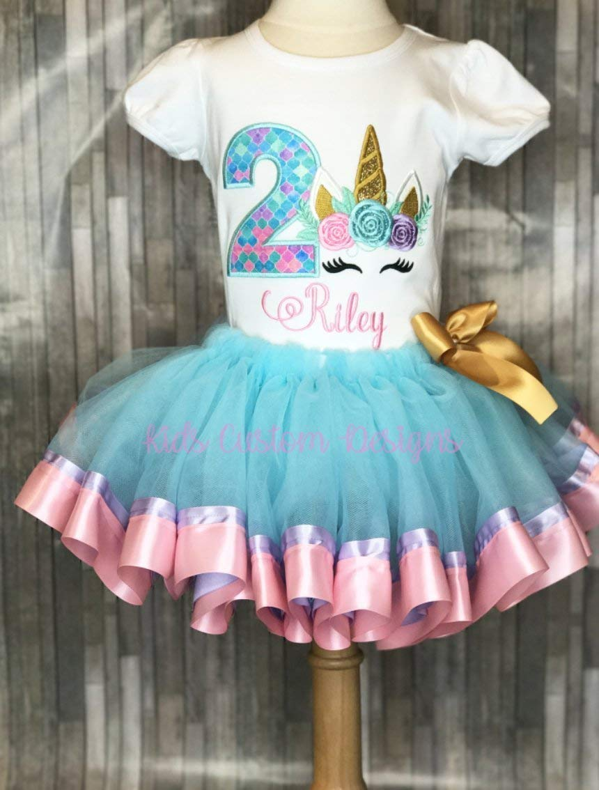 Get Quotations Unicorn Birthday Outfit Embroidered Shirt 1st 2nd