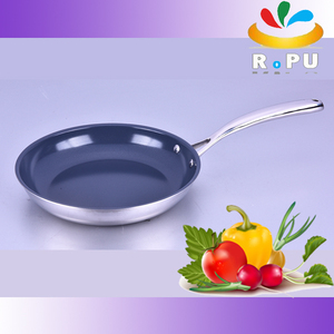 Best selling colorful ceramic coating induction fry pan with metal handle/skillet