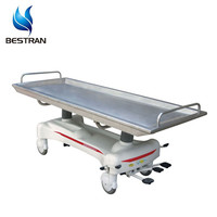 BT-TR012 Hospital mobile Patient Transfer Stretcher, medical hydraulic Mortuary Gurney Cart With stainless steel top