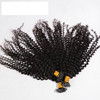 #1 jet black micro bead i tip hair extensions kinky curly