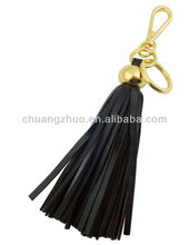 Fashion 2013 tassels leather keychain for handbag , high quality detachable keychains,braided leather keychain.