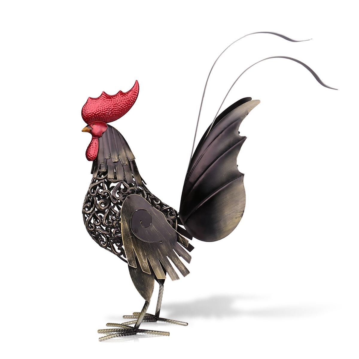 Tooarts Metal Figurine Iron Rooster Home Decor Articles: Popular Metal Rooster Decor-Buy Cheap Metal Rooster Decor