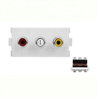 3rca audio video AV wall plate/faceplate One input 6 output