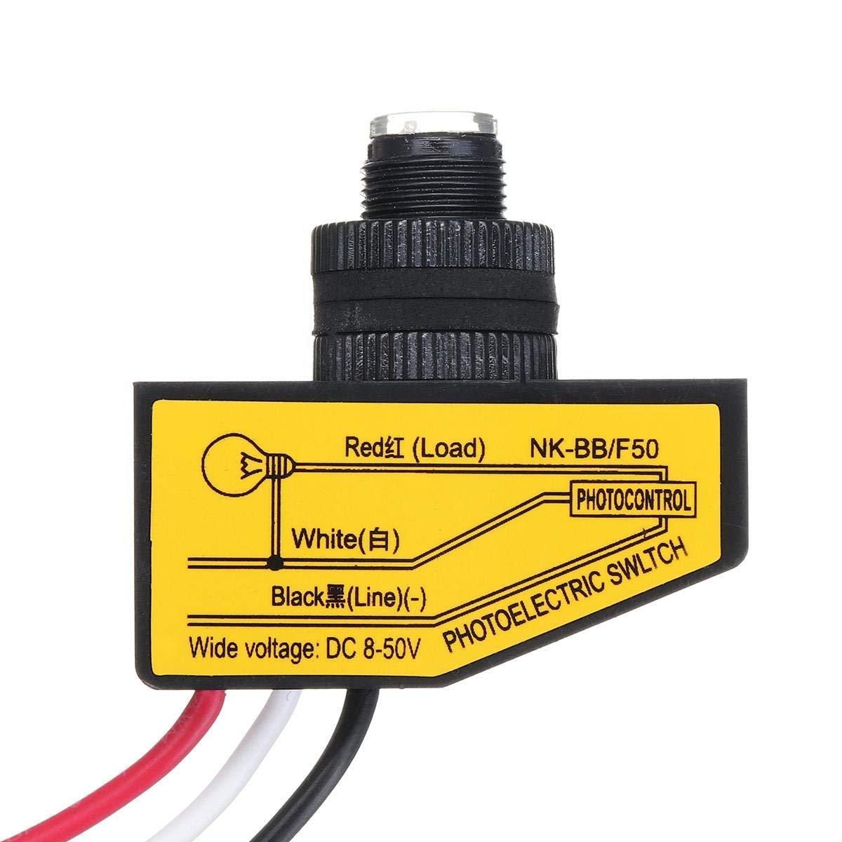 8-50VDC Photocell Sensor Dusk To Dawn Sensor Photoelectric Switch Sensor Automatic C - Electrical Equipment & Supplies Other Electrical Equipment - 1 x Photoelectric Switch