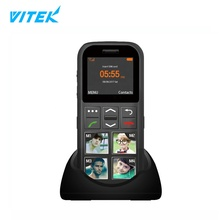 싼 1.77 inch 큰 Picture Button 2G SIM Card Cordless 데스크탑 GSM 수석 폰