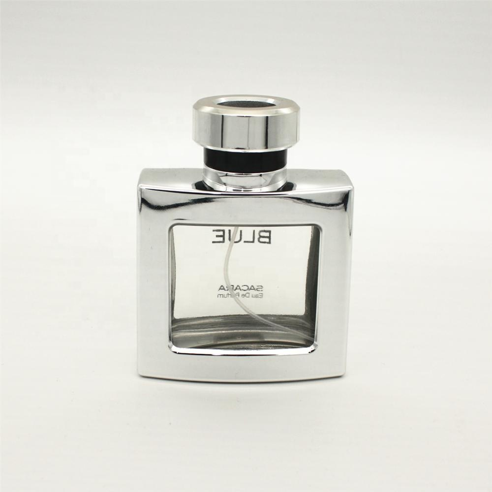 <strong>bottle</strong> for 5000pcs stock 100ml square uv coating perfume glass refillable <strong>bottle</strong>