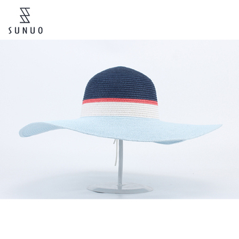 Fashion Designer Extra Large Wide Brim Summer Beach Sun Visor Hat For Women 0e608bcb7b4