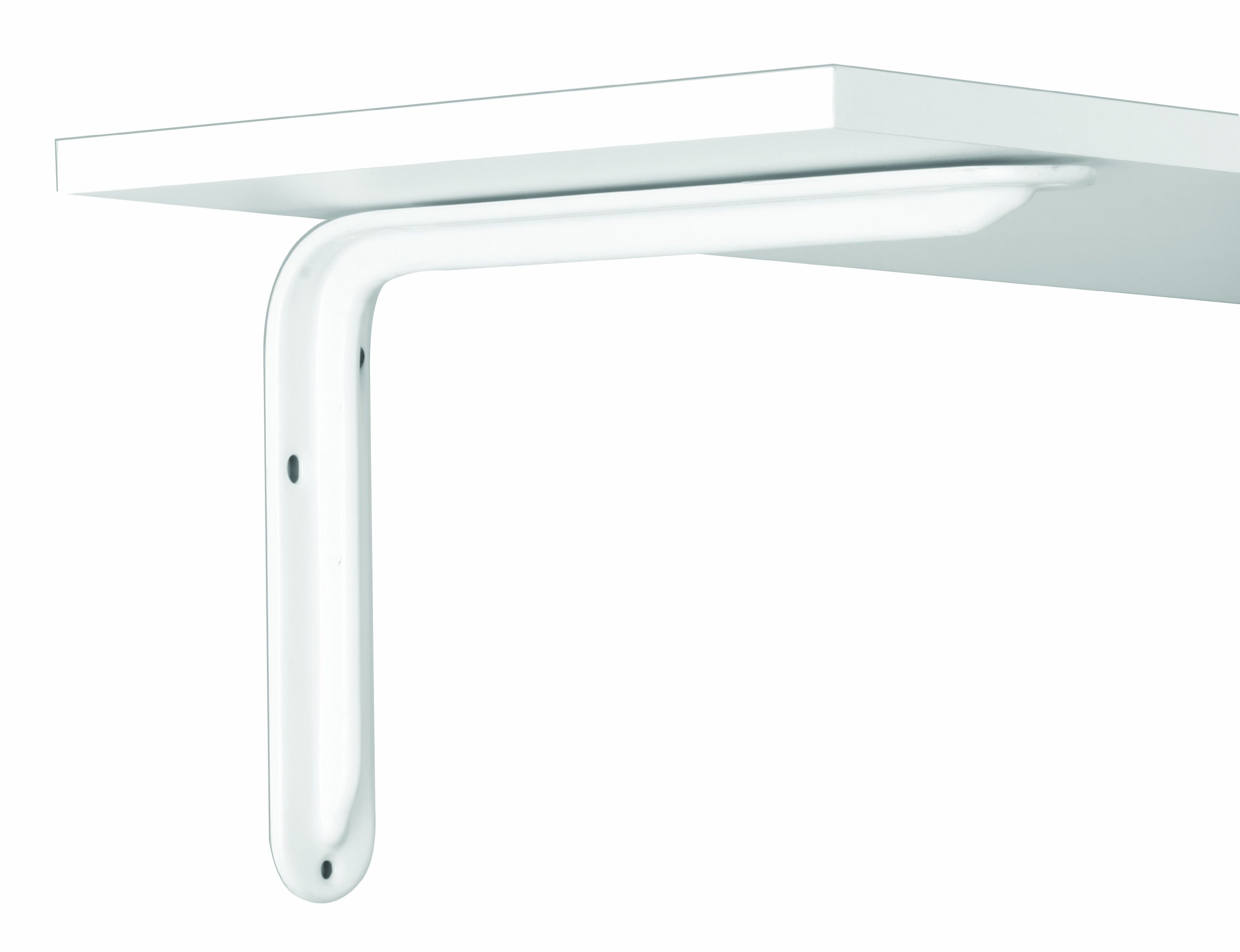 Knape & Vogt John Sterling Magnum Style Decorative Shelf Bracket, 12-inch, Warm White, RP-0099-12WT
