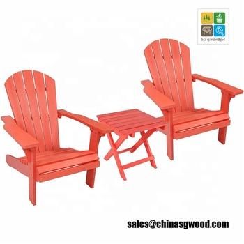 Wood Weather Adirondack Beach Chair Set