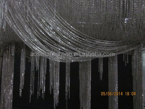 Large Atlantis Suspension Light Nickel Chains Chandelier