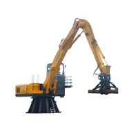 Bulk Material Handler Fixed Hydraulic Grab Machine For Sale