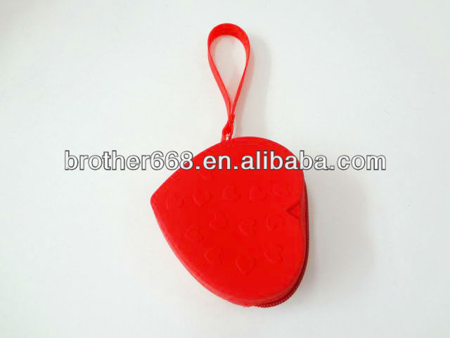 Heart shape silicone coin purse/High quality silicone wallet/fashion silicone wallet