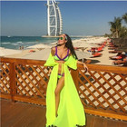 YOUME Swimsuit Cover Up Women Sexy Beach Cover-Ups Chiffon Long Dress Solid Beach Cardigan Bathing Suit Cover Up