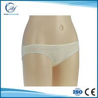 100% pure cotton women underwear light weight disposable cotton underwear for sale