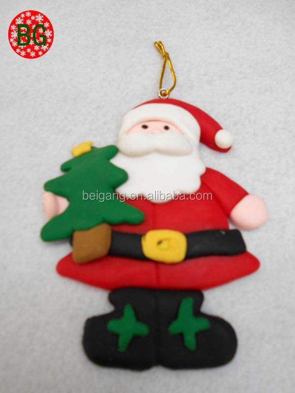 fimo arcilla del polmero de trabajo hecho a mano de alta calidad decoracin de navidad de