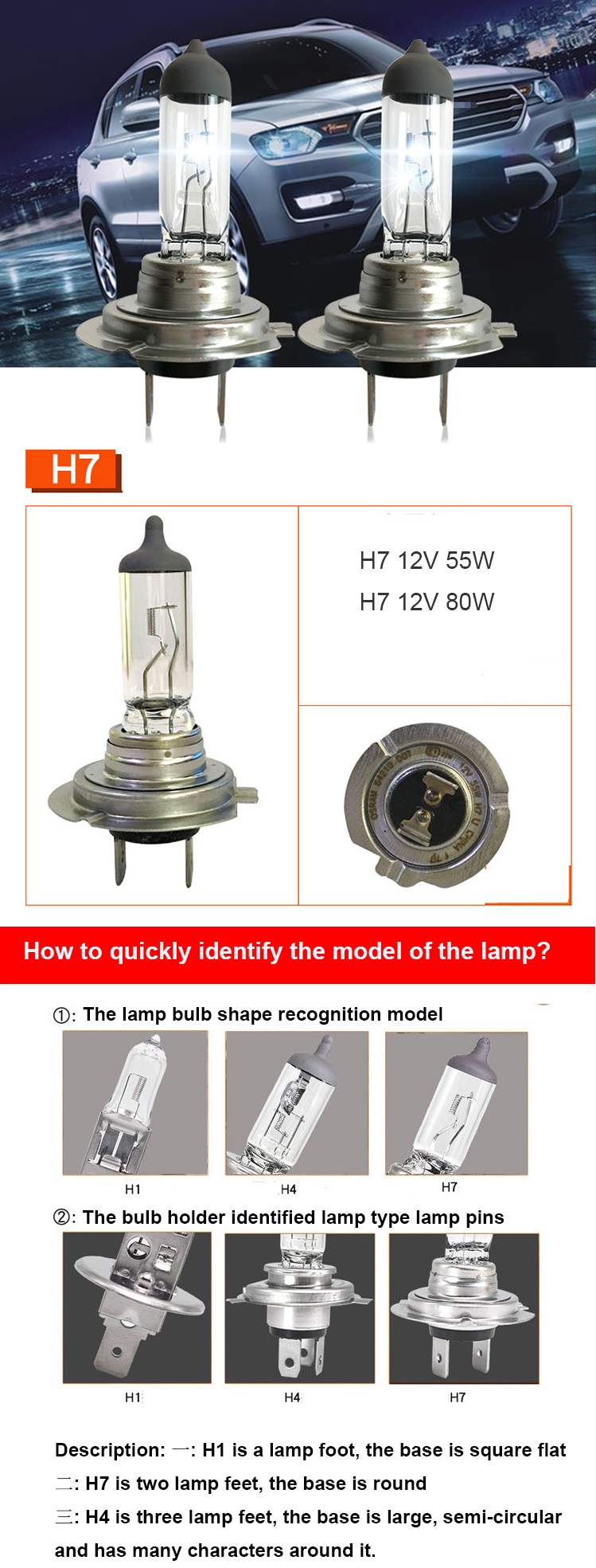 Autolamp 할로겐 H7 인증 12 전압 및 할로겐 램프 유형